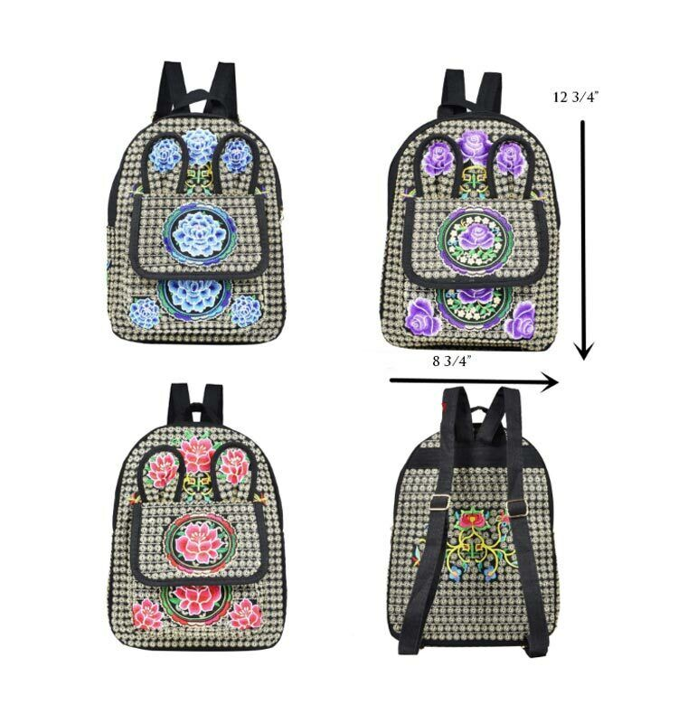 Adults Teens Cute Fashion Cultural Floral Backpacks Bags USA