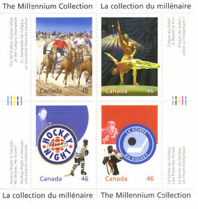 Canada Stamps - The Millennium Collection - Canadian Entertainme