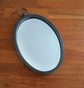 Small Industrial oval mirror