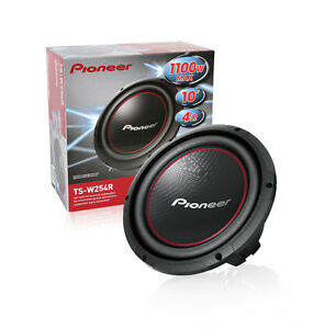 "2x Pioneer TS-W254R 10"" Component Subwoofer - 1,100W Max - 250W"