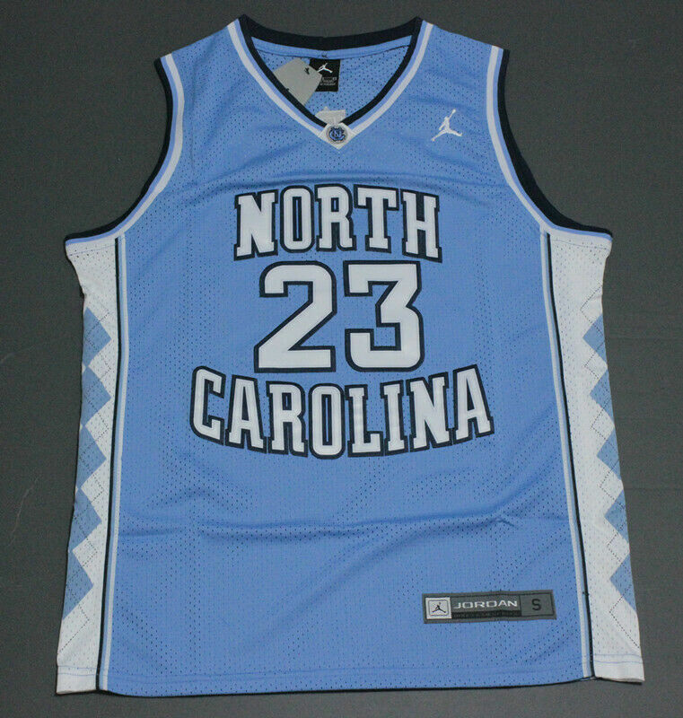 Michael Jordan #23 University of North Carolina Basketball Jersey Stitched Blau