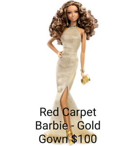 Barbie Collectables - Red Carpet Barbie Gold Gown