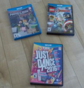 3 Jeux de Wii U à Vendre pour 15$