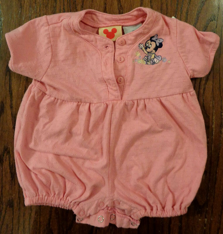 Disney Baby Clothing -- Pink Minnie Mouse Creeper -- Size 3-6 Months