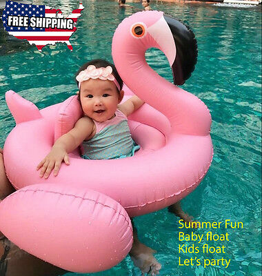 Flamingo baby kids Swimming inflatable pool floats Perfect Pool Tube Party Toy