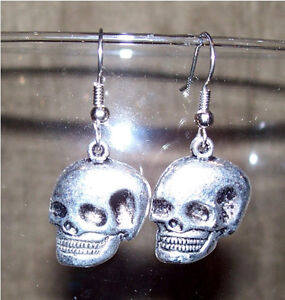 Gothic pewter charm Earrings ~many styles available, Handmade!