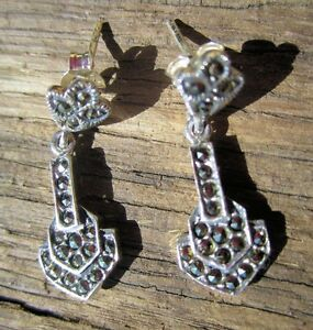 Marsacite Sterling Silver Earrings