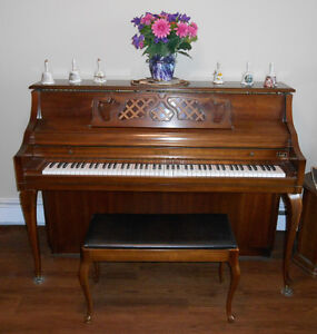 Kimball Apartment-Sized Piano w/Bench + Music