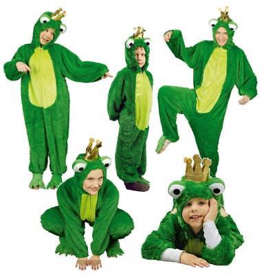 Frosch Herren König Kostüm Overall Kinder Froschkostüm Märchen Froschkönig Damen ()