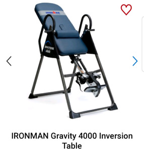 Ironman inversion table