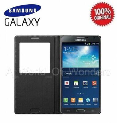 OEM Samsung Galaxy Note 3 III S-View Flip Cover Folio Case - Black