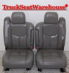 Chev Truck 05 Yukon Tahoe GREY LEATHER Front Seats Suburban