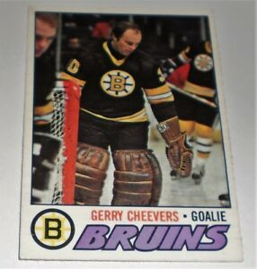GERRY CHEEVERS BOSTON BRUINS GOALIE OPC 260