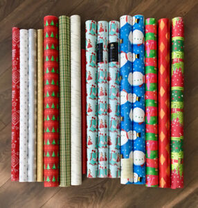 HUGE LOT OF HIGH QUALITY CHRISTMAS GIFT WRAP RIBBON & GIFT TAGS