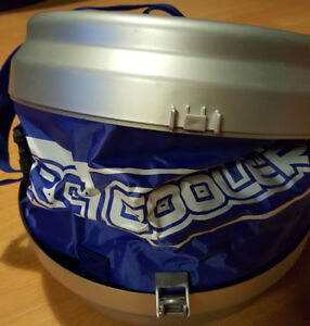 "The ""RC Electric Cooler, Camping Cook Pans, & Blanket"" for sale"
