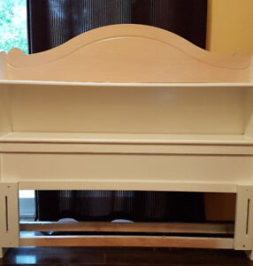 Twin Captains Bed - 2 dressers, mirror and nightstand - GUC