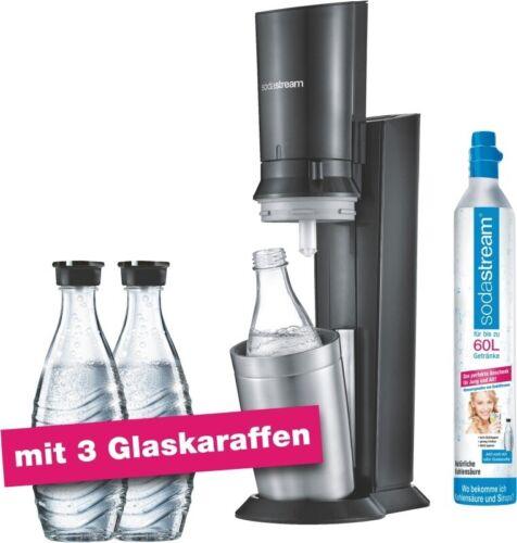 SODASTREAM Crystal 2.0 Titan Wassersprudler Aktionspack 3 Glasflaschen
