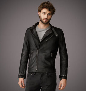 Belstaff Kendal leather biker jacket large