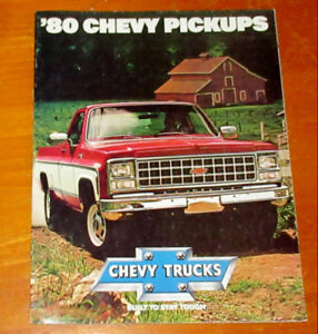 1980 CHEVY PICKUP TRUCK VINTAGE BROCHURE - CATALOG CAMION 70S
