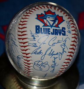 Blue Jays Vintage print signed baseball