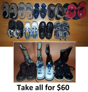 Size 7 and 8 Boy Shoes & Boots Lot - 14 Pairs for Only $60