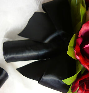 So Pretty Red, Black & White Wedding Bouquet Flower Package. London Ontario image 3