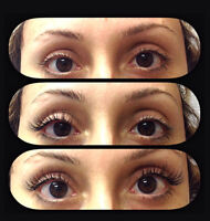Professional certified eyelash extensions