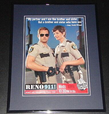 Reno 911 Trudy Wiegel 11x14 Framed ORIGINAL Vintage - Trudy Reno 911