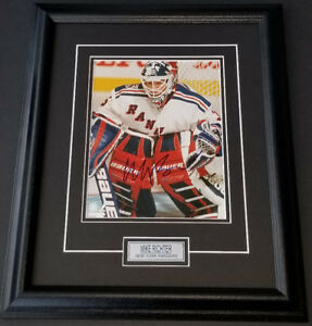 New York Rangers Mike Richter Autographed 8x10 Photo. Framed