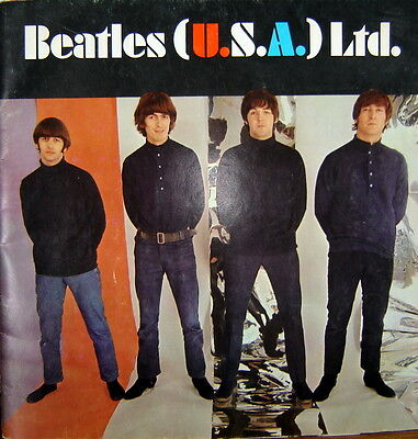 1966 BEATLES FINAL TOUR ORIGINAL USA LIMITED CONCERT PROGRAM