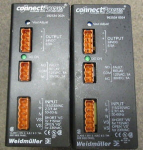 Lot of 2 Weidmuller Connect Power 992534 0024