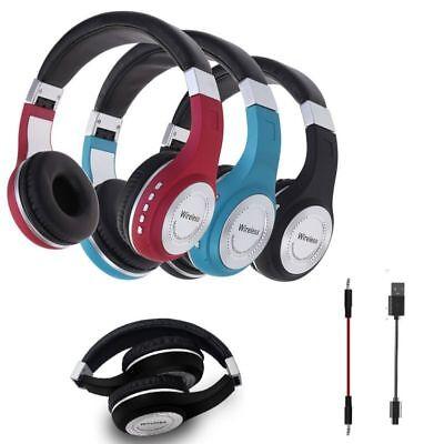 Pro Wireless Bluetooth 4.1 Headphones Foldable Headset Stereo Earphones With Mic