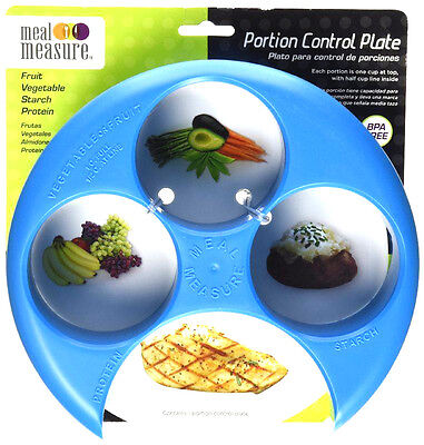 (Meal Measure Portion Control on Your Plate (Blue) Diet Weight Loss Healthy Tool)