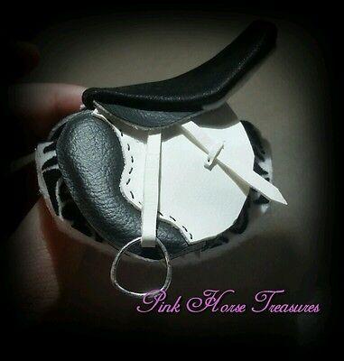 1:9 scale cm Breyer English Saddle Black and White
