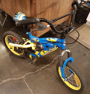 Superbe vélo enfant avec frein arriere et suspension, 4-6 ans
