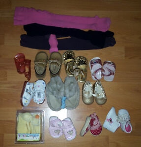 Infant Baby Girl Shoes Lot - 10 Pairs for Only $40