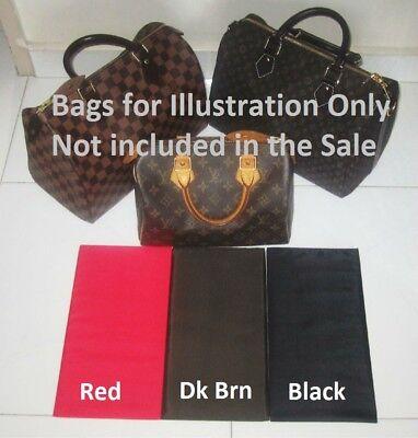 Red Dark Brown Black Nylon Base Shaper Liner that fit Louis Vuitton Speedy 30