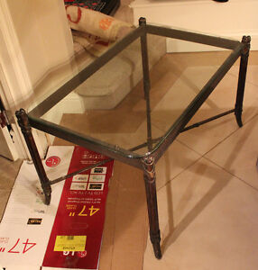 "Glass table for sale 39"" H x 25"" W x 22"" H"