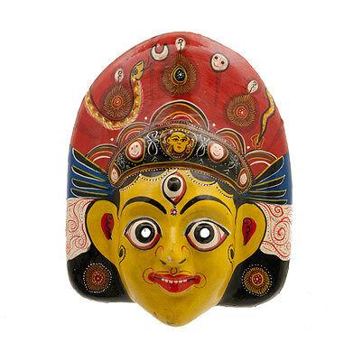 Mask Hat and Mitten Set Mahakali Kali Dance Indra Jatra Nepal Paper Mache 2424