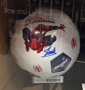 Stan Lee Signed Spider-Man Soccer Ball With Certified Auto