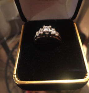 Yellow & White Gold Engagement Ring with Appraisal