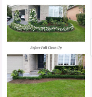 Landscaping, spring clean up and garden beds