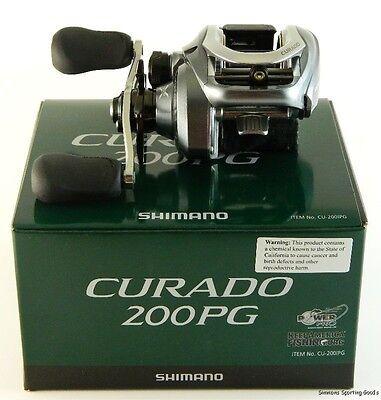 SHIMANO CURADO CU-200IPG 5.5:1 GEAR RATIO RIGHT HAND BAITCAST REEL