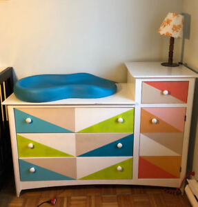 4-drawer Dresser that works well as a change table