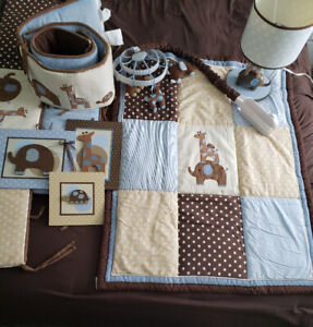 Crib bedding and accessories by Lambs and Ivy $65