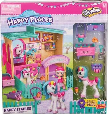 Shopkins Happy Places Happy Stables Playset inc Exclusive Ponicakes Pony NEW