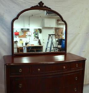 Large mirror & walnut frame