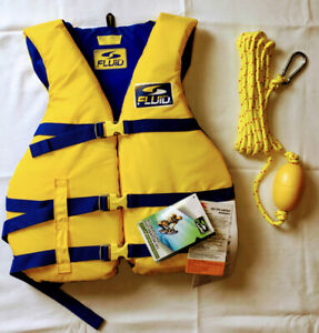 Fluid vinyl life vest - adult size - brand new!
