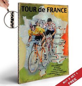 Tour de france bicycle poster a4 vintage graphic design - Deco tour de france ...