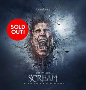 Scream 2016 VIP/GA Hard Copy tickets